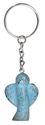 """Schlüsselanhänger """"Schutzengel"""" - blau-sponged"""