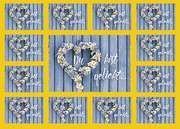 Aufkleber-Gruß-Karten: Du bist geliebt, 4 Stück