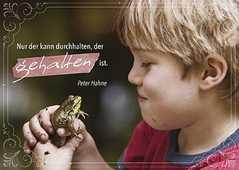 """Postkarten """"Nur der kann durchhalten"""", 4er-Serie"""