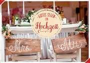 """Doppelkarte """"Mrs. & Mr. Holzbank"""" - Hochzeit"""