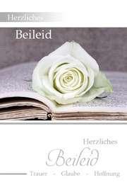 "Faltkarte ""Weiße Rose"" - Trauer"