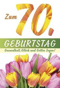 Faltkarte: Zum 70. Geburtstag