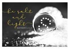 Postkarte - Be salt und light