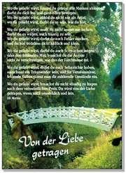 Postkarten: Von der Liebe getragen, 4 Stück