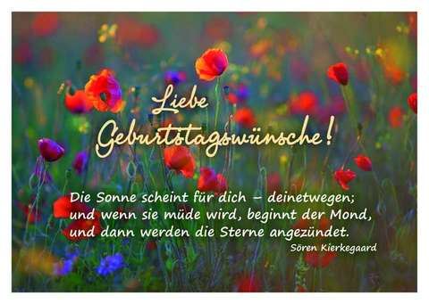 Liebe Geburtstagswünsche! - Postkarte - Sören Kierkegaard