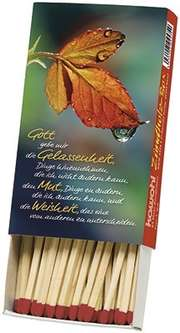 Zündholzbox - Gott gebe mir die Gelassenheit