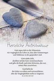 Faltkarte: Gott segne dich - Trauer