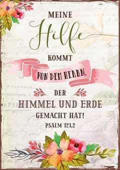 """Postkartenserie """"Meine Hilfe kommt von dem Herrn"""" - 12 Stück"""