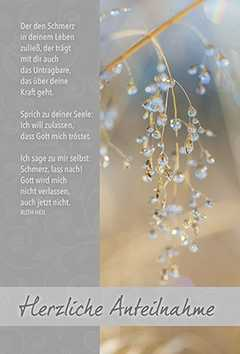Faltkarte: Der den Schmerz - Trauer