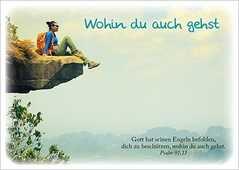 Postkarten: Wohin du auch gehst, 4 Stück